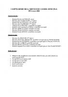 Conseil Municipal – Compte Rendu – 2020-03-06
