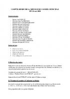 Conseil Municipal – Compte Rendu – 2020-05-26