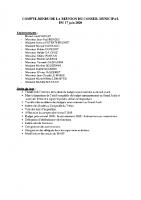 Conseil Municipal – Compte Rendu – 2020-06-17