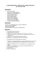Conseil Municipal – Compte Rendu – 2020-12-16