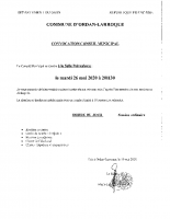Convocation CM 26 05 2020